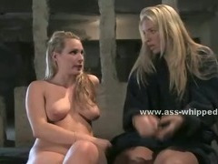 Blonde lesbian telling her shrink about all her brutal lesbian sex fantasies and experiences