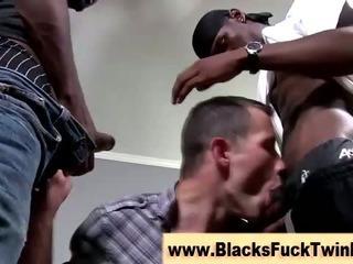 Porno Video of Interracial Loving Blacks Jerk Off