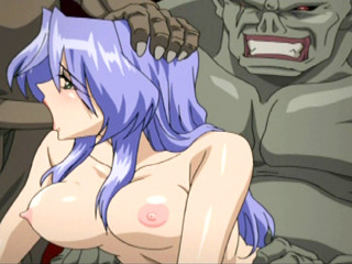 Porno Video of Chained Hentai Bigboobed Gangbanged By Monsters In The Dungeon