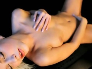 Porn Tube of Blond Angel Babe On The Leather Sofa
