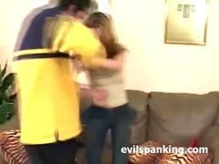 spanking fun couple home video