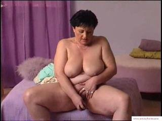 Porn Tube of 55 Years Granny Mariska Masturbates At Home