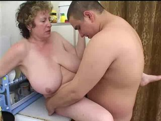 Sex Movie of Mature Russian Seduces Fat Boy