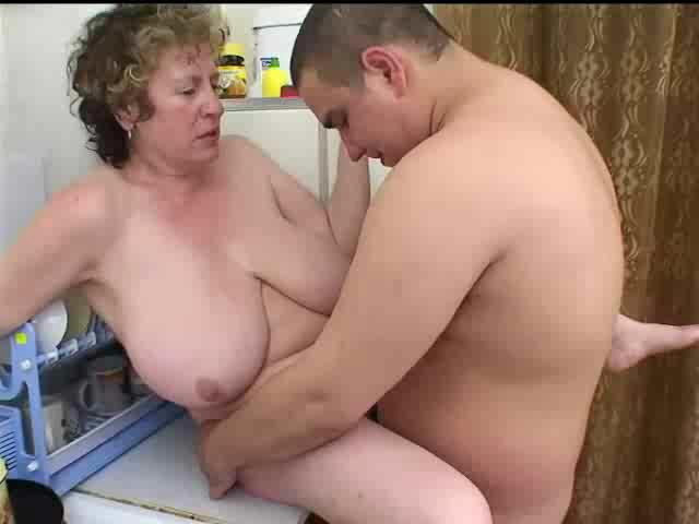 Mature Blonde Seduces Young