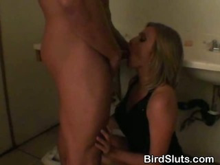 Porn Tube of Big Titty Blonde Fucked In Nightclub Bathroom