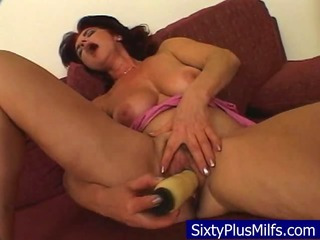 Porno Video of Sexy Granny Intense Fucking Her Toy