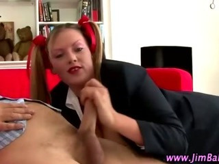 Porno Video of Nasty Schoolgirl Sucks Oldie