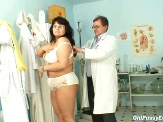 Porn Tube of Mature Daniela Has Her Huge Tits Checked By Gyno Doctor