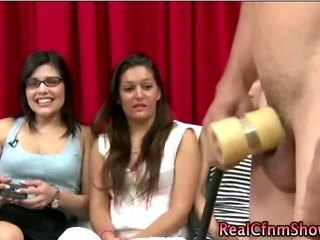 Porn Tube of Group Of Cfnm Babes Watch Guy