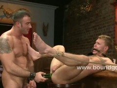 Zach choses the bondage with corporal