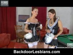 Megan&Rosa anal lesbian action