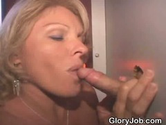 Dirty Blonde Sucking Off Strangers At Glory Hole