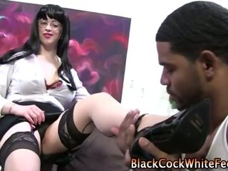 Porno Video of Interracial Loving Fetish Slut Feet Fucked