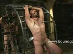 Josh whips out his huge cock and chokes