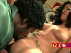 hot TV babe having her pussy licked