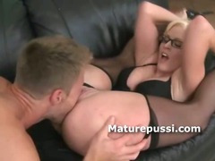 Huge ass blonde milf likes to fuck younger mans cocks
