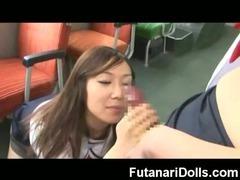 Schoolgirl Sucks a Futanari!