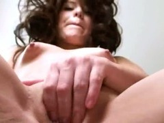ultra sexy brunette vibrating pussy
