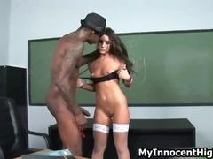 Horny schoolgirl whore gets her tight