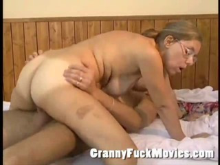 Porno Video of Real Old Granny Playing Cowgirl