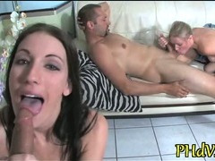 Bitch gets sperm in mouth