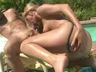 Porn Tube of Poolside Bikini Blonde Anal Obsession