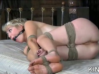 Porn Tube of Sexy Hot Girl In Bondage Action