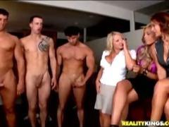 Hot babes enjoy naked men