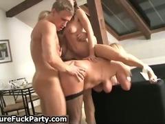 Horny blonde and brunette sluts gets
