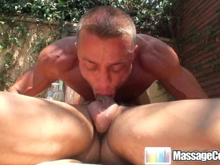 Porn Tube of Massagecocks Outdoor Muscule Massage