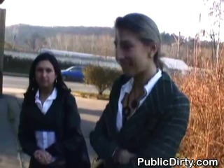 Porn Tube of European Amateurs Flashing Outdoors In Public