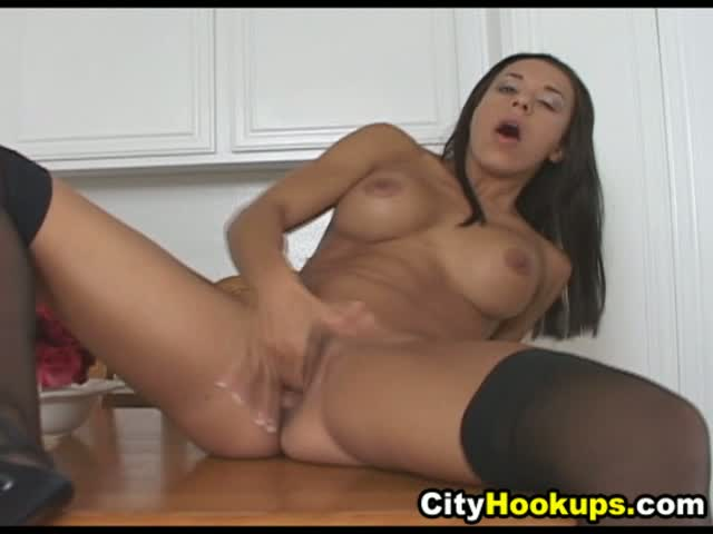 Ebony Wet Pussy Dildo Solo