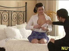 Gals undress their boyfriend