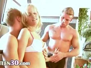 Porn Tube of Blonde Pornstar At Gym Gangbanged Hard