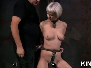 Porn Tube of Shaved Pussy In Bondage
