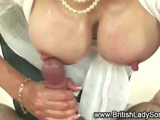 Sex Movie of Busty Mature Lady Sonia Gives Handjob