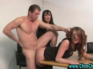 Porn Tube of Cfnm Femdom Slut Fucked Hard And Deep