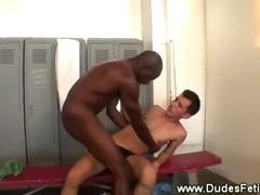 Black master dominates over white slave