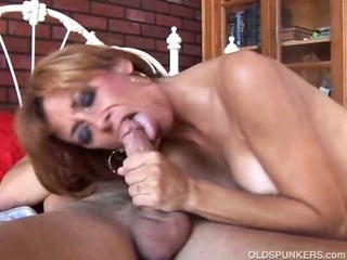 Porn Tube of Gorgeous Ginger Cougar Enjoys A Hard Fuck