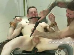 Jeof is bound with tape and made to suck