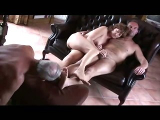 Porn Tube of Old Cuckold Lick Both Wife And Master Feet