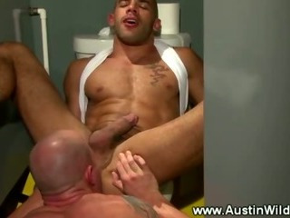 Porno Video of Rimmed And Penetrated In The Toilet