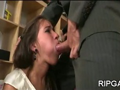 Cock in all of her holes