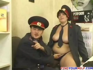 Porn Tube of Russian Mature Police Officer