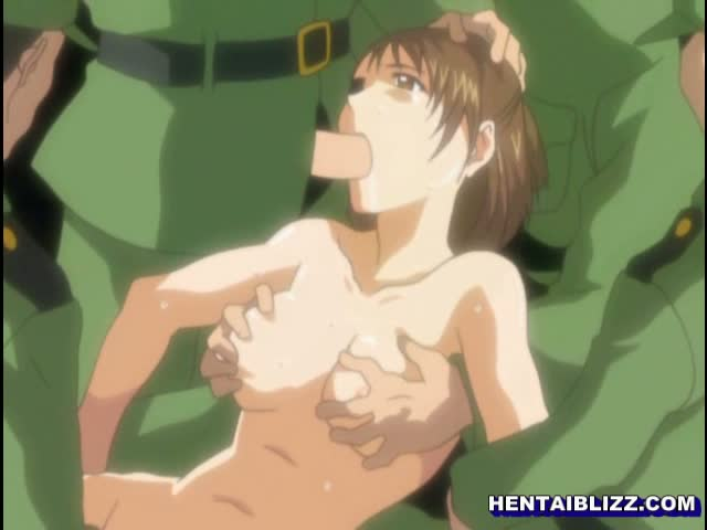 Hentai female ravaged soldiers