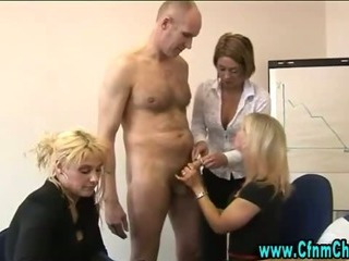 Porno Video of Cfnm British Femdom Sluts Suck Cock